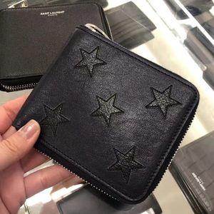 YSL mens black wallet